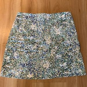 Floral mini skirt from J Crew